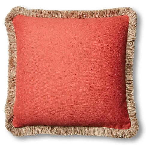 Abra 20x20 Pillow, Coral