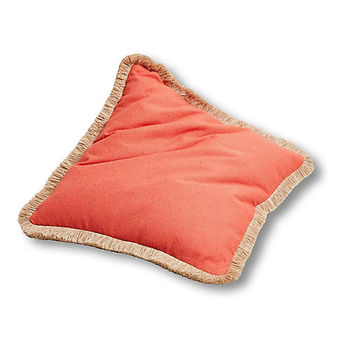 Abra 26x26 Floor Pillow, Coral
