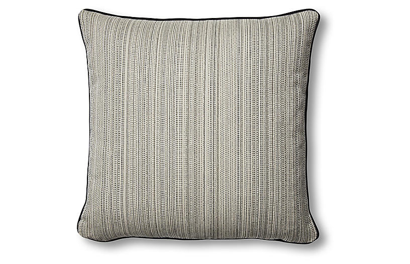 Lowell 20x20 Pillow, Natural/Black