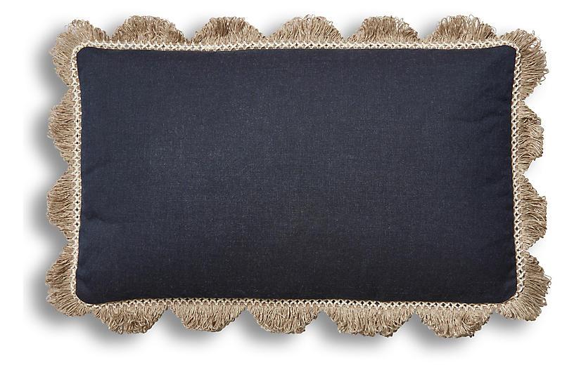 Katerini 12x20 Lumbar Pillow, Indigo