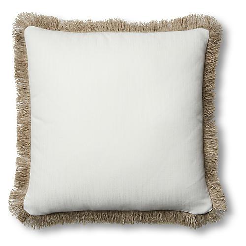 Suzette 20x20 Pillow, White Sunbrella