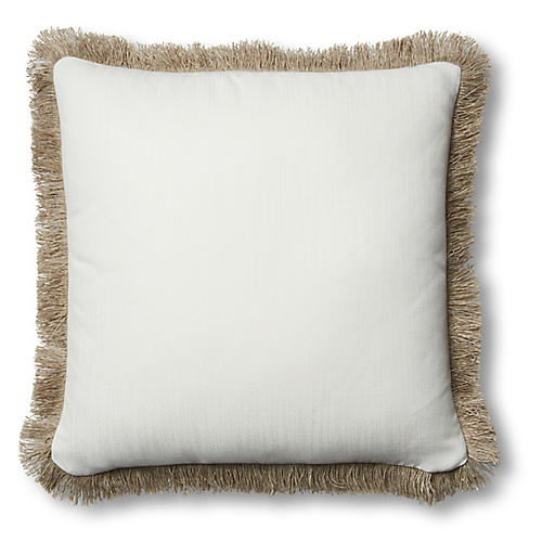 Suzette 20x20 Pillow, White Sunbrella