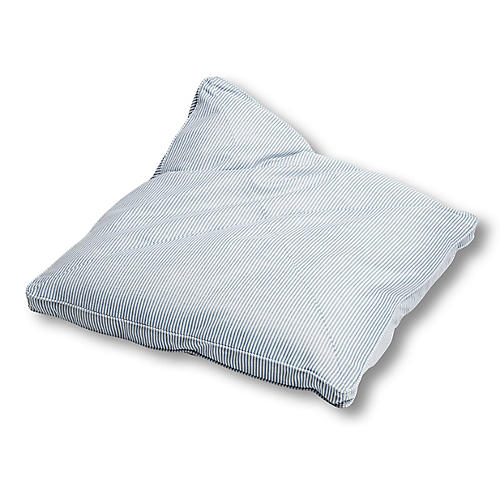 Lottie 32x32 Floor Pillow, Periwinkle