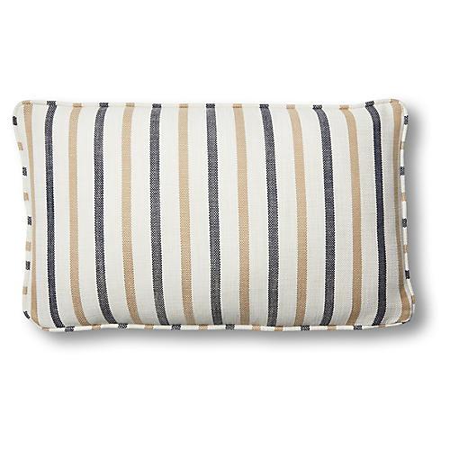 Newton 12x20 Lumbar Pillow, Cream/Navy