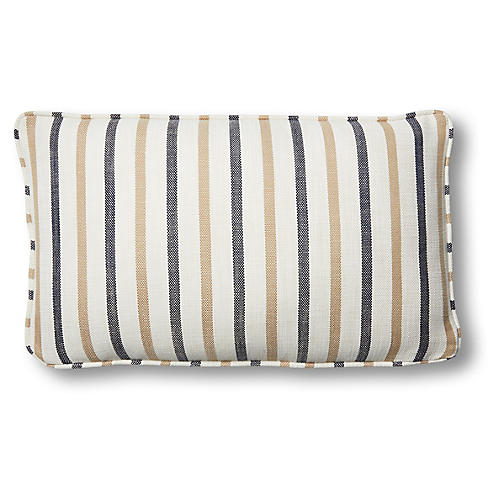 Newton 12x20 Lumbar Pillow, Cream/Navy