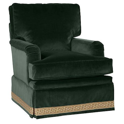Winston Club Chair, Forest Velvet
