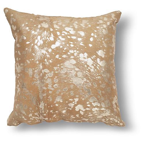 Shimmer Pillow, Beige/Gold