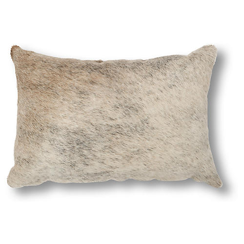 Brazilian 12x18 Lumbar Pillow, Gray