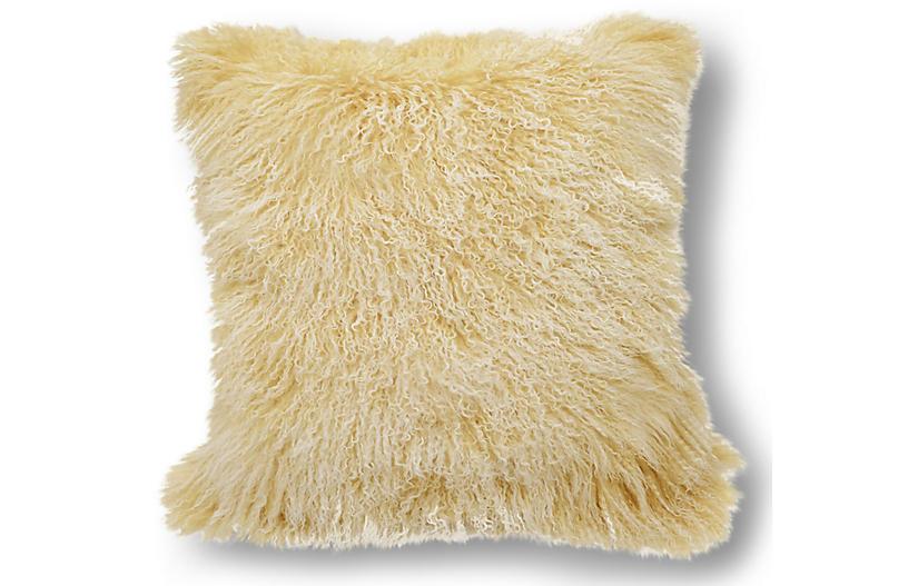 Tibetan 24x24 Pillow, Beige