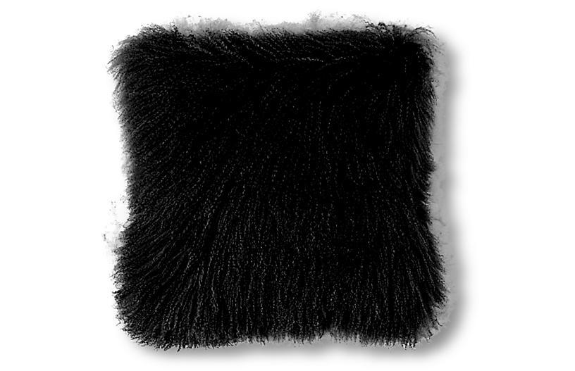 Tibetan 24x24 Pillow, Black