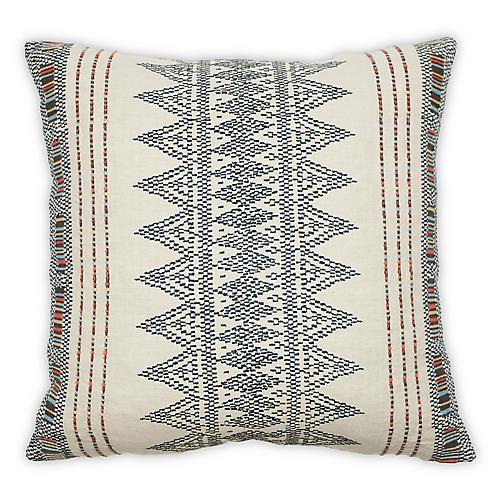 Tecaz 22x22 Pillow, Indigo Linen