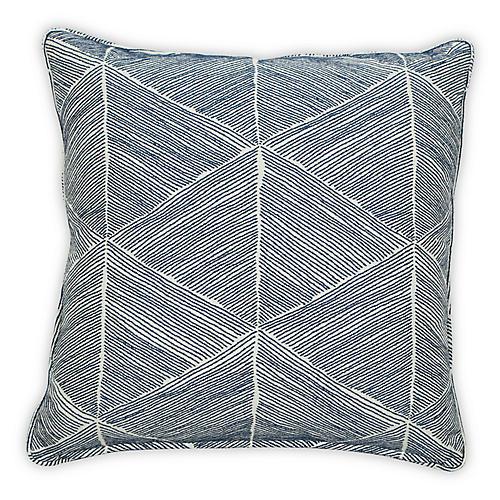 Blurr 20x20 Pillow, Indigo