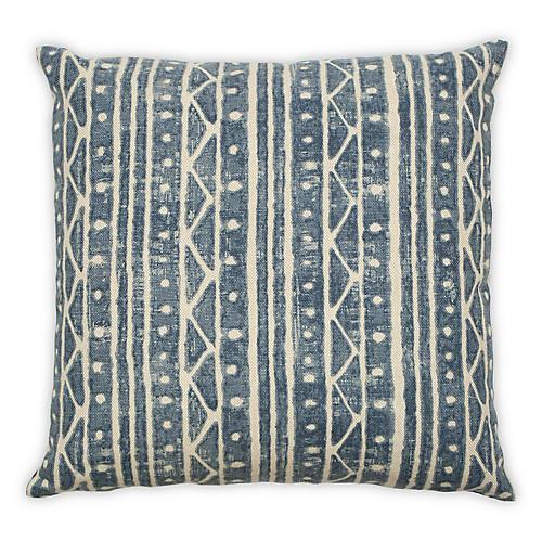 Bal 22x22 Pillow, Blue Linen