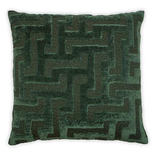 Greek 20x20 Pillow, Forest Linen