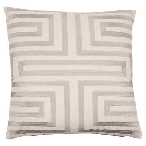 Aze 20x20 Pillow, Stone