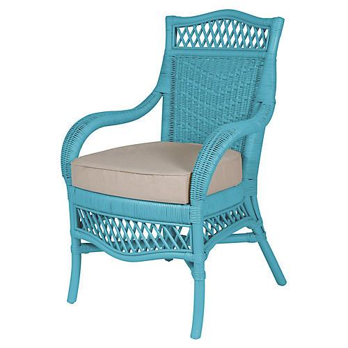 Plantation Armchair, Blue/Beige