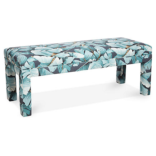 Brittany Bench, Blue Palm