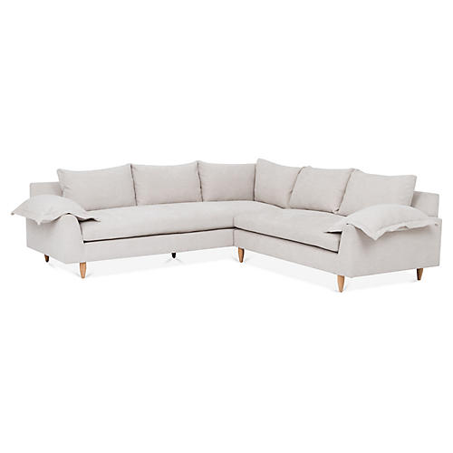 Clark Sectional, Dove Gray Crypton