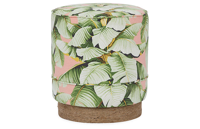 Pepper Stool, Blush Palm