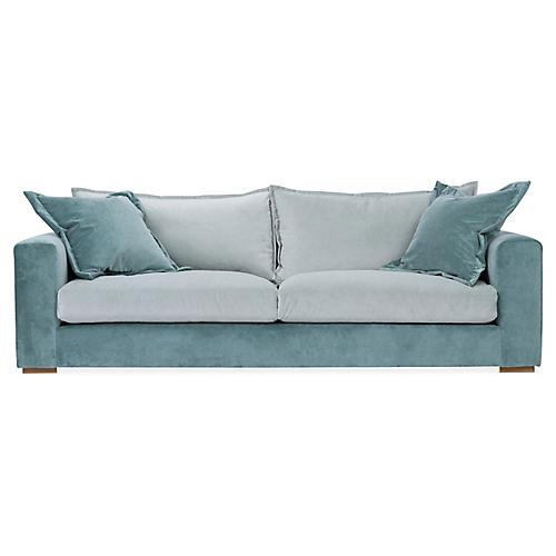 Skylar Sofa, Blue Velvet