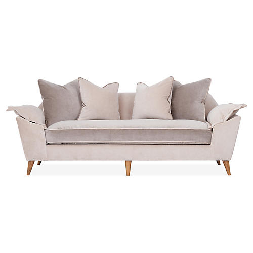 Annelise Sofa, Sand Velvet