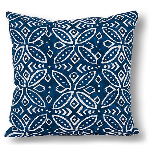 Shibori 20x20 Outdoor Pillow, Indigo