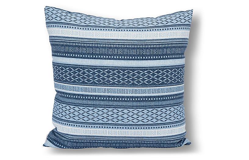 Boho 22x22 Outdoor Pillow Indigowhite One Kings Lane