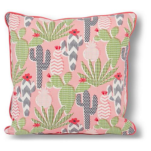 Cactus 20x20 Outdoor Pillow, Pink/Multi