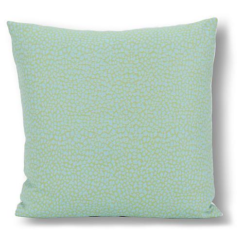 Kinsley 20x20 Outdoor Pillow, Spring Green/Aqua