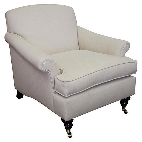 Joplin Club Chair, Tan Crypton