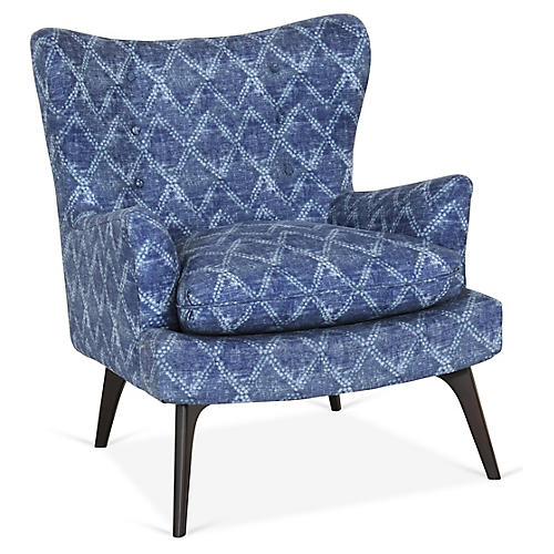 Sonja Accent Chair, Indigo