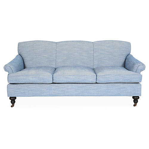 Joplin Sofa, Denim Crypton