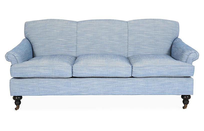 Joplin Sofa, Denim Crypton