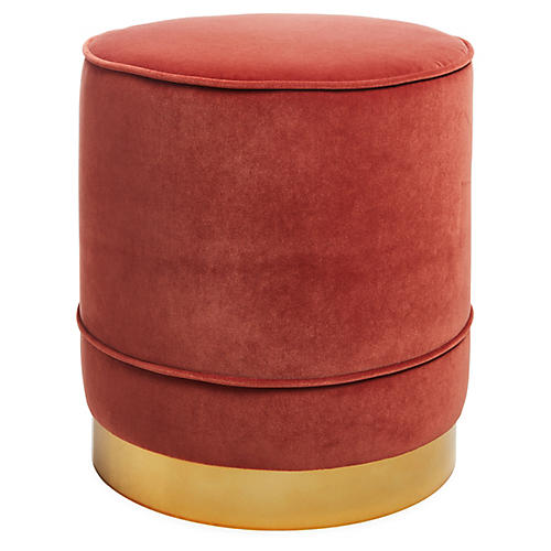 Piper Stool, Rust Velvet
