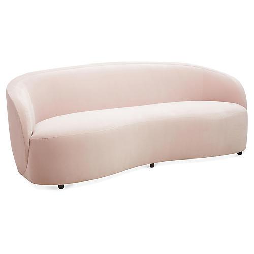 Rondo Sofa, Mauve Velvet