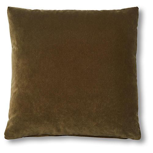 Marlon 20x20 Pillow, Olive Velvet