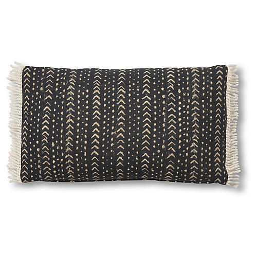 Jafari 14x24 Lumbar Pillow, Black