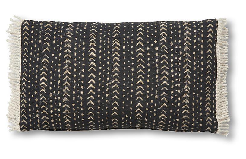 Jafari 14x24 Lumbar Pillow, Black