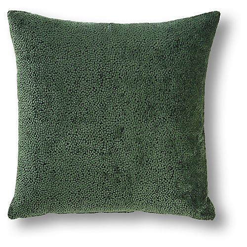 Thurman 22x22 Pillow, Emerald Velvet