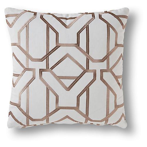 Alton 19x19 Pillow, Beige/Ivory