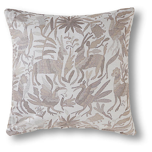 Herman 24x24 Pillow, Greige
