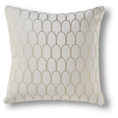 Peralta 19x19 Pillow, Snow Velvet