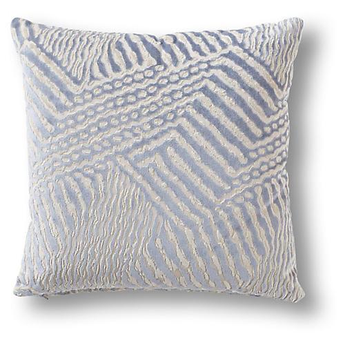 Karca 19x19 Pillow, Periwinkle Velvet