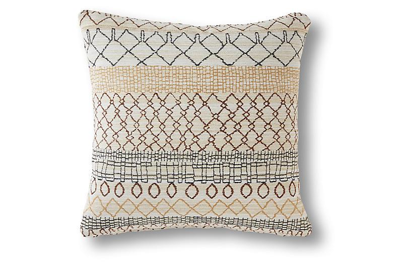 Yuma 19x19 Pillow, Beige/Multi
