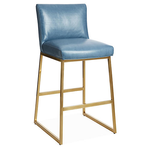 Hollas Counter Stool, Adriatic Leather