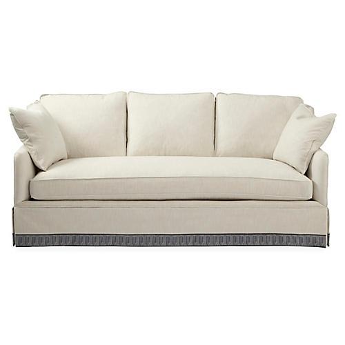 Piermont Sofa, Ivory/Indigo Stripe