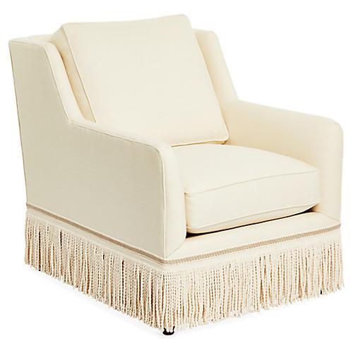 Portsmouth Chair, Cream Linen