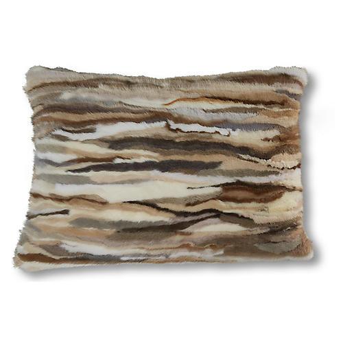 Willow 15x23 Lumbar Pillow, Caramel Hair-On Hide