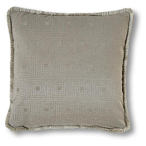 Genevieve 19x19 Pillow, Pewter