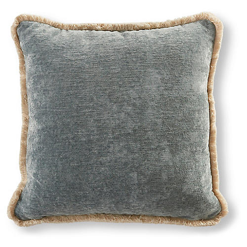 Wisteria 22x22 Pillow, Blue Stone